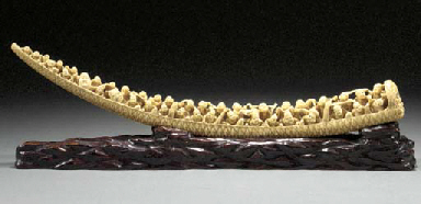 An ivory tusk carving 19th cen