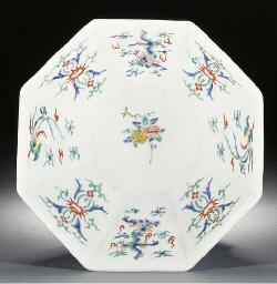 A Kakiemon octagonal bowl Edo