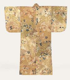 A Karaori Robe of Brocaded Sil