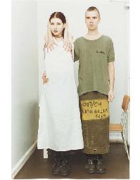 Suzanne & Lutz white dress, ar