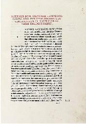 BOSSUS, Matthaeus (1428-1502).