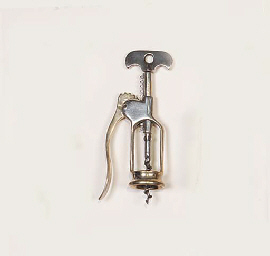 A FRENCH LEVER-RACK CORKSCREW