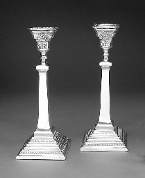A Pair of George VI Silver Can