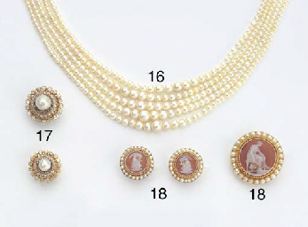 TWO ANTIQUE GOLD, DIAMOND AND