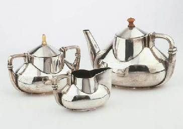 Torpedo, a silver tea service