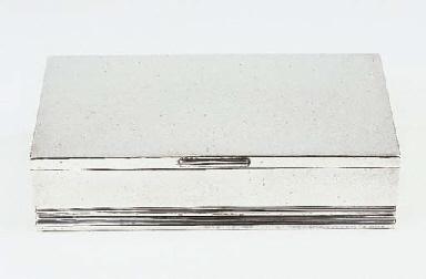 A Danish silver cigar box