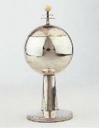 A silver and ivory sugar basin