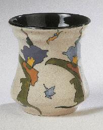 Viervoud, a glazed pottery vas