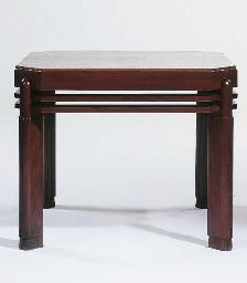 A mahogany coffeetable