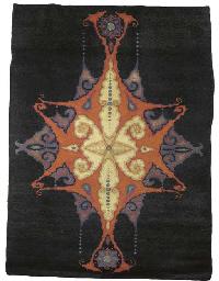 A woven woollen carpet