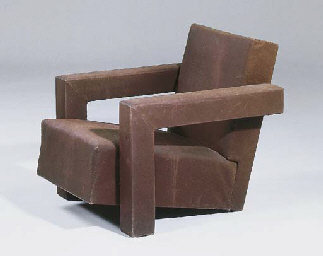 An upholstered easy-chair