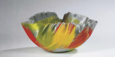 Dayfire, a fused glass bowl fo