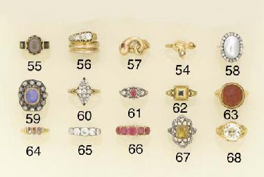 A Victorian, diamond five ston
