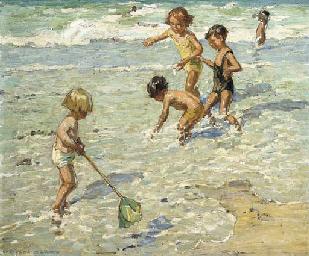 Water babies, Cornish coast