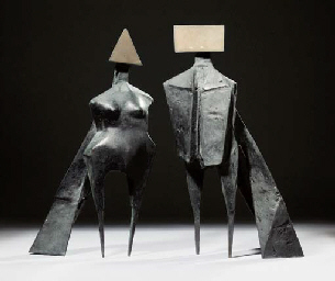 Maquette VI Two Winged Figures