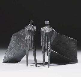 Pair of Cloaked Figures III
