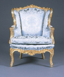 A FRENCH GILTWOOD BERGERE A OR