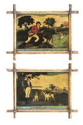 A pair of George III mezzotint