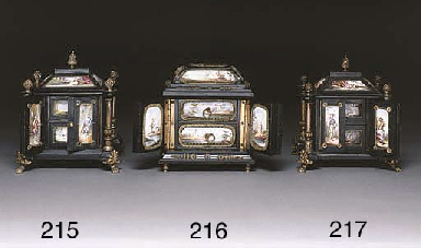 A gilt-metal mounted ebonised