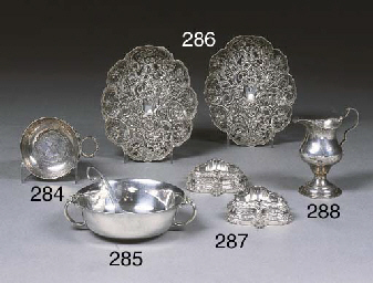 A Pair of Victorian Silver Sal