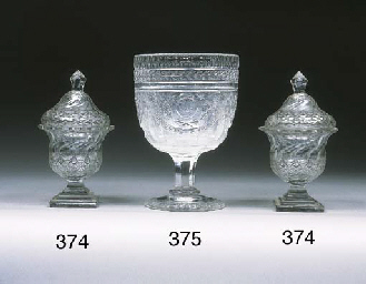 A cut and engraved large goble