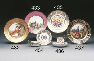 A Paris (La Courtille) plate