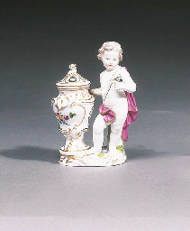 A Meissen figure of a putto by