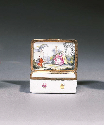 A German porcelain gilt-metal-