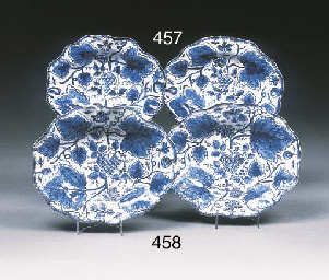 Two Bow blue and white shaped