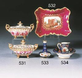An English porcelain Imari pat