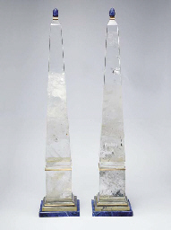 A PAIR OF ROCK CRYSTAL AND SOD