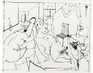 Preliminary drawing for Casano
