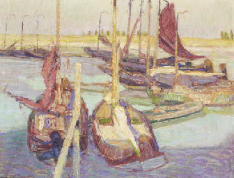 Boats in a Harbour, Ostende
