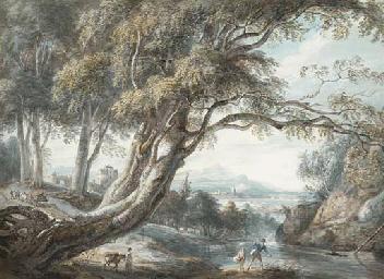 A riverside landscape