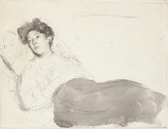 Portrait of a lady reclining