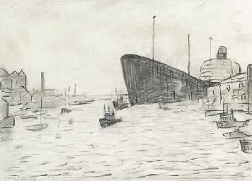 Tanker entering the Tyne