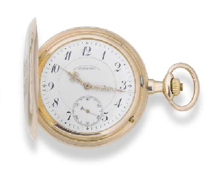 GLASHUTTE, A 14ct. GOLD HUNTIN