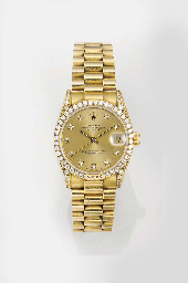 ROLEX, AN 18ct. GOLD AND DIAMO