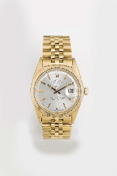 ROLEX, AN 18ct. GOLD AUTOMATIC