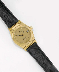 IWC, AN 18ct. GOLD AUTOMATIC CALENDAR CENTRE SECONDS WRISTWATCH signed IWC...