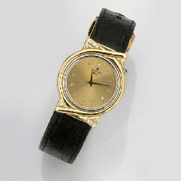 JUNGHANS, A 14ct. GOLD DIAMOND