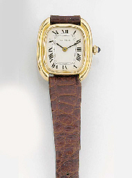 CARTIER, A LADY'S 18ct. GOLD W