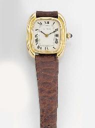 CARTIER, A LADY'S 18ct. GOLD WRISTWATCH signed Cartier, model: Gondole...