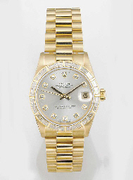 ROLEX, A MID-SIZE 18ct. GOLD A
