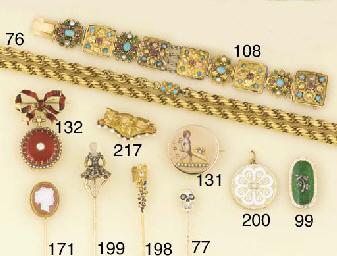 A 19th century gold, enamel, r