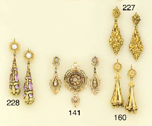 A 19th century gold and rose-c