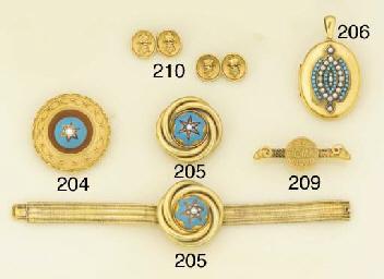 A Victorian gold, half-pearl,