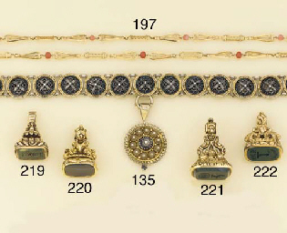 A late 19th century gold and b