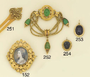 A late 19th century gold and h