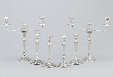 A pair George III silver three